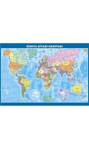 Dünya Siyasi Çıtalı Ders Haritası 70x100cm