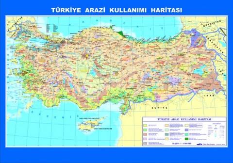 Türkiye Arazi Kullanımı Çıtalı Ders Haritası 70x100cm