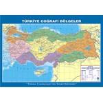 Türkiye Coğrafi Bölgeler Çıtalı Ders Haritası 70x100cm