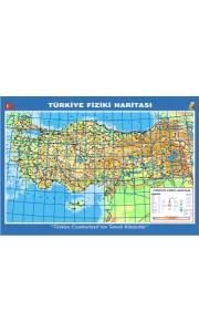 Türkiye Fiziki Dilli Çıtalı Ders Haritası 70x100cm