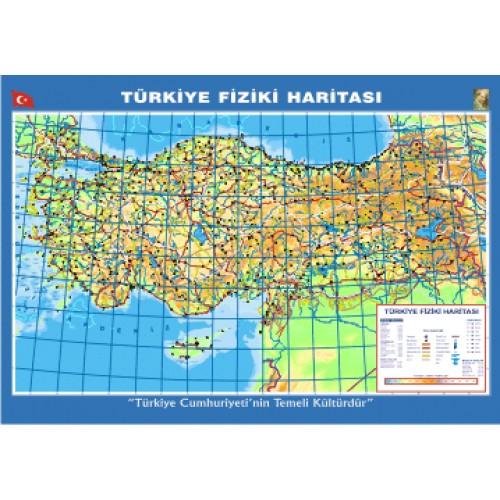 Turkiye Fiziki Dilli Citali Ders Haritasi 70x100cm