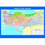 Türkiye İklim Çıtalı Ders Haritası 70x100cm