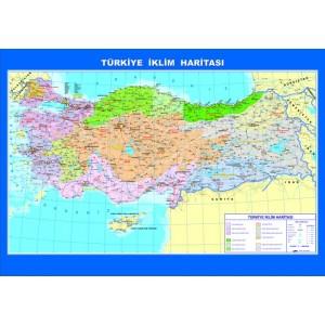 Coğrafya Haritaları-Türkiye İklim Çıtalı Ders Haritası 70x100cm