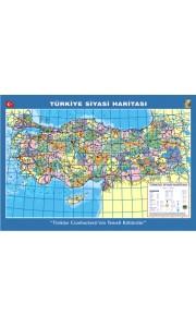 Türkiye Siyasi Dilli Çıtalı Ders Haritası 70x100cm