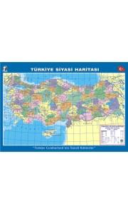 Türkiye Siyasi Dilsiz Çıtalı Ders Haritası 70x100cm