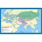 Asya ve Avrupada Hun-Türk İmparatorlukları Tarih Dersi Haritası