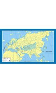 Türklerin Ana Yurdu ve Göç Yolları Tarih Dersi Haritası