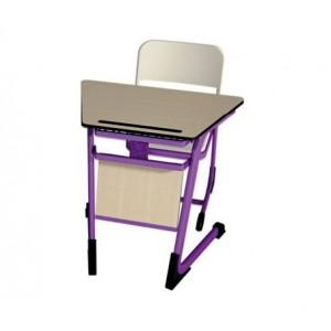 Tek Kişilik Okul Sırası-Tek Kişilik Okul Sırası Trapez MDF