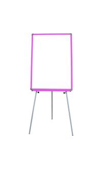 50x70 cm Pembe Çerçeveli Ayaklı Yazı Tahtası