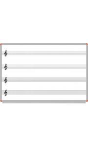Müzik Yazı Tahtası Beyaz 120x140 cm